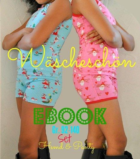 ♥WÄSCHEschön♥ eBOOK Hemd&Panty SET 92-140
