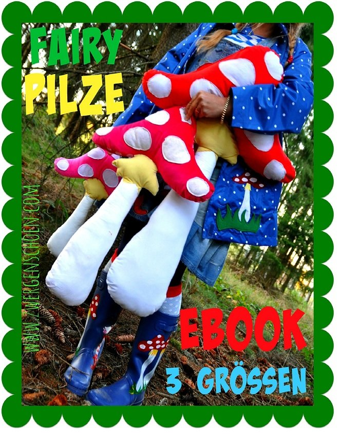 ♥FAIRY MUSHROOM♥ eBOOK 3 SIZES German PATTERN