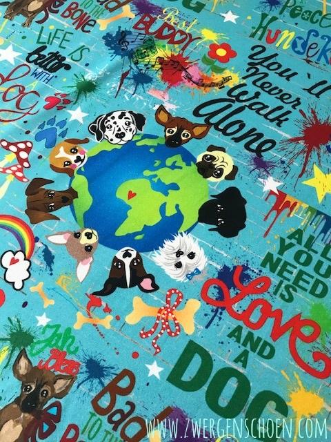 ♥WUFFz on GRAFFITISCHÖN♥ 0.6m JERSEY türkis BLAU