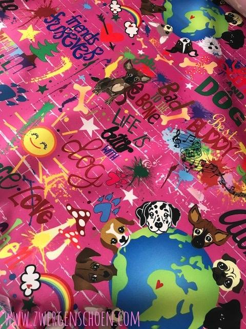 ♥DOGs on GRAFFITISCHoeN♥ 0.59m NYLON dark PINK