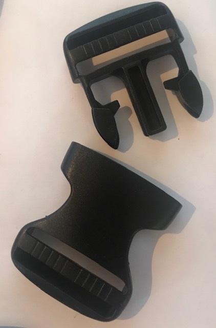 ♥STECKVERSCHLUSS♥ Kunststoff STECKSCHNALLE schwarz 3cm