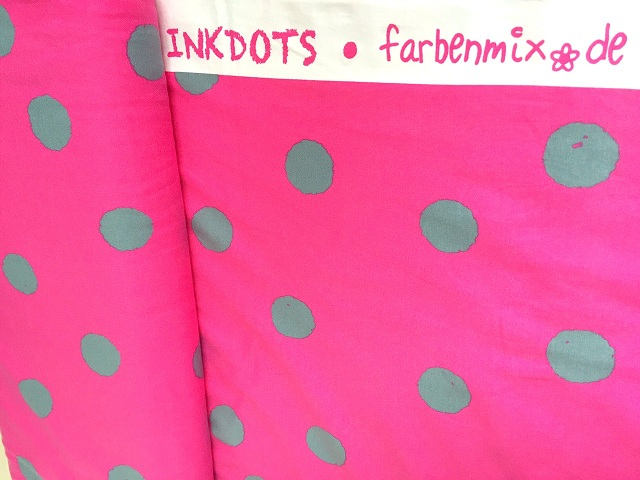 farbenmix inkdots jersey punkte pink grau 1561 109. Black Bedroom Furniture Sets. Home Design Ideas