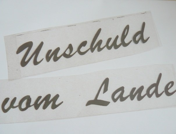 ♥UNSCHULD vom LANDE♥ GERMAN iron it! BROWN