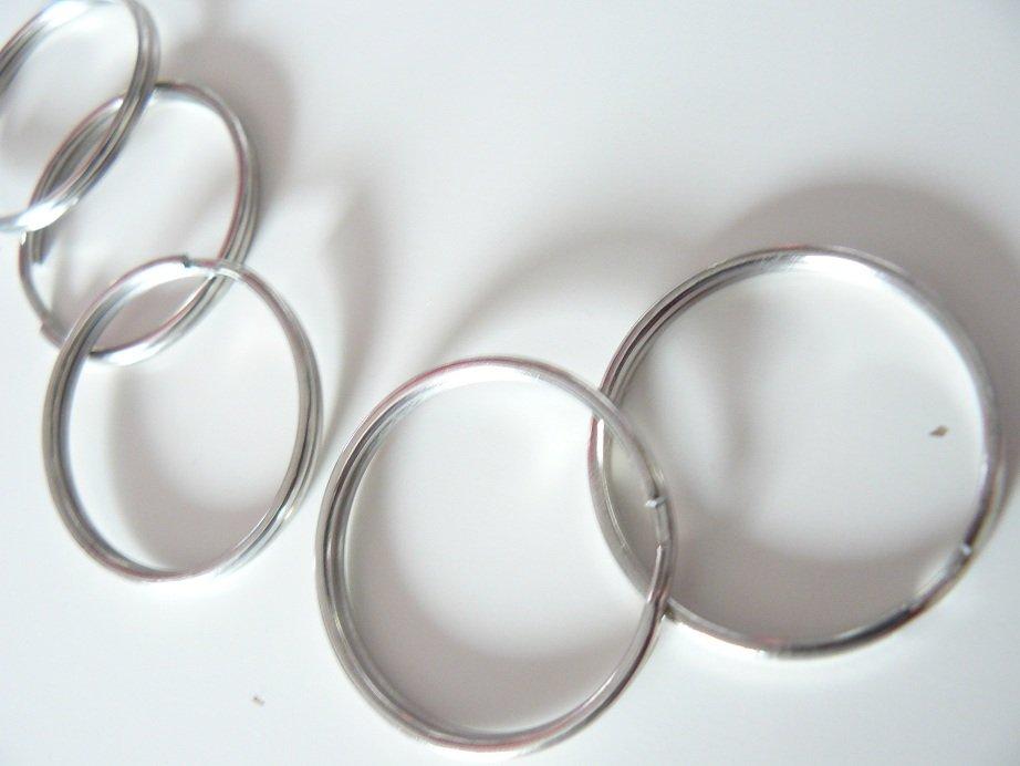 ♥SCHLÜSSELRINGE♥ 3,4cm DURCHMESSER Silberfarben