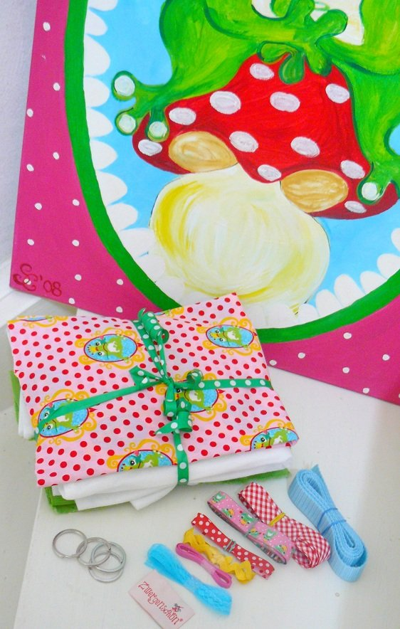 ♥ABSOLUTE BEGINNER Medium TASCHE 25x27cm♥ eBOOK Froschprinz MATERIALPACKUNG