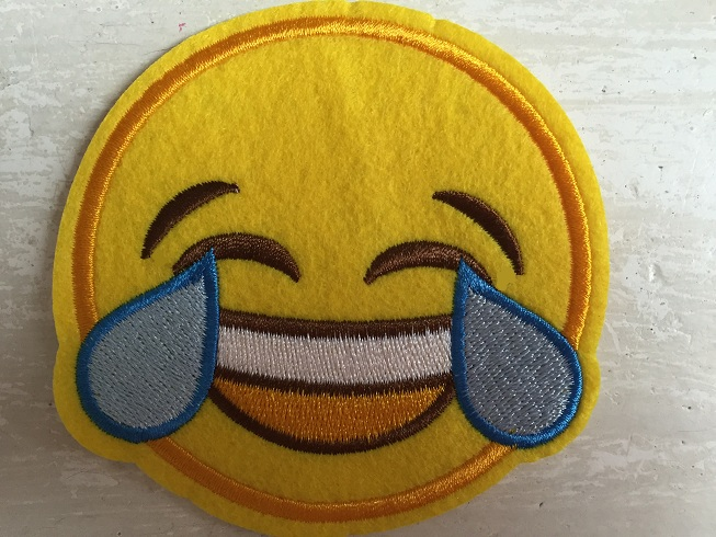 ♥EMOIJ♥ Smiley HAHAHAHA Applique SPECIAL