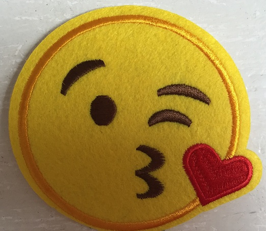 ♥EMOIJ♥ Smiley KISS Applique SPECIAL