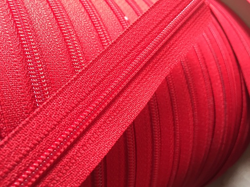 ♥YKK♥ ENDLESS ZIPPER inkl. 3 ZIPS red PRICER per METER