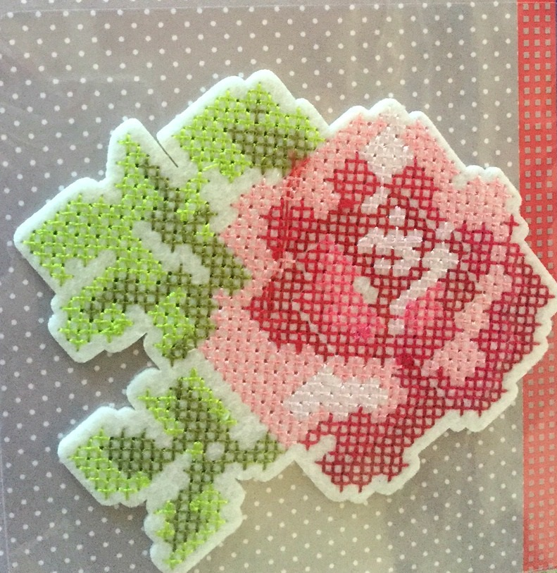 ♥IRON ON♥ ROSE Cross Stitch