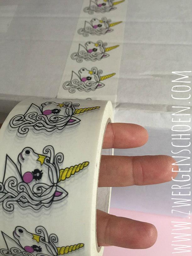 ♥EINHORN♥ Klebeband PACKBAND Unicorn