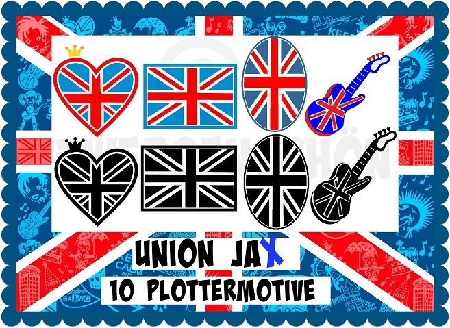 ♥UNION JAx♥ BRIT FLAG Plotterfiles SVG, DFX, JPG
