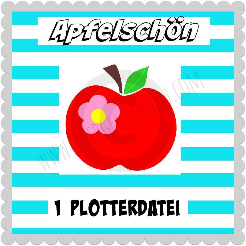 ♥APFELSCHoeN♥ Plottfile APPLE SVG, DFX, JPG