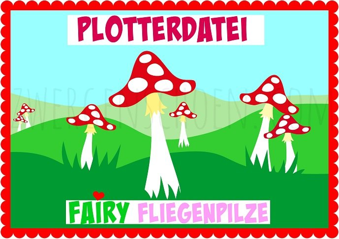 ♥FAIRY TOADSTOOL♥ PLOTTFILE Mushrooms SVG, JPG, DFX