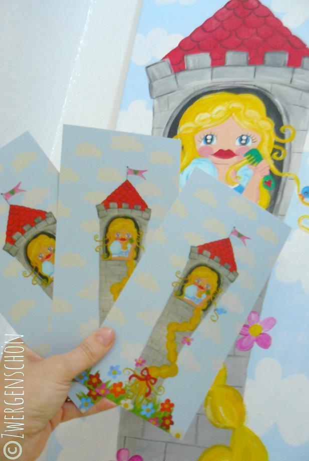 ♥RAPUNZENschoen♥ TANGLED Postcard SET of 3