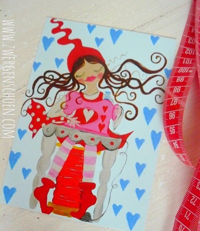 ♥MILLI in LOVE with SEWING♥ Postkarten SET 3STÜCK