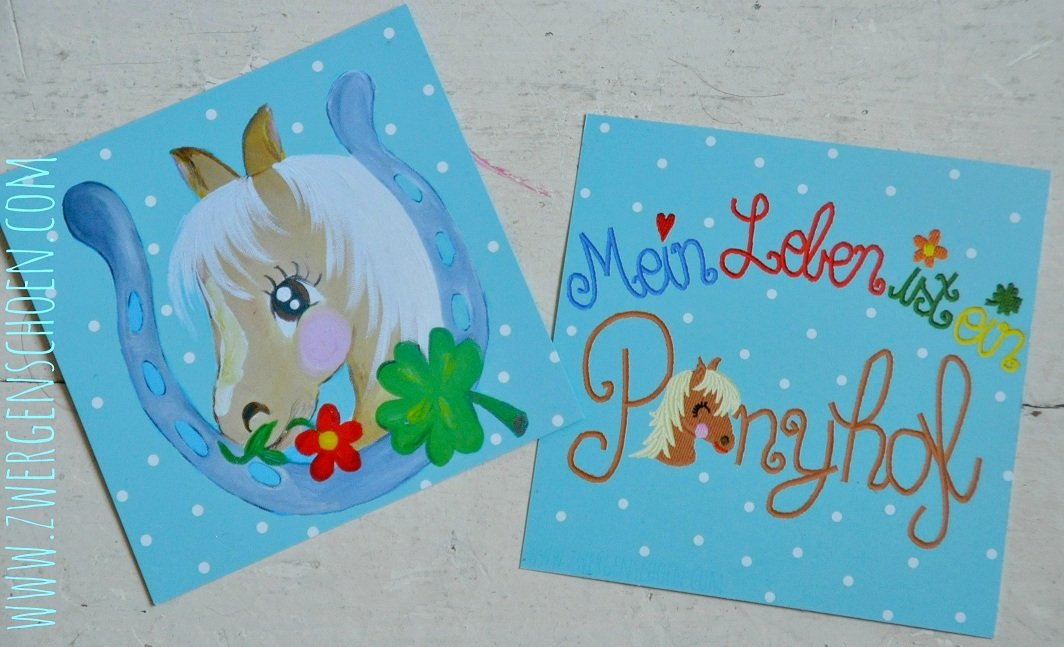 ♥PONYLOVE♥ Lucky HORSE Postcard-SET of 3