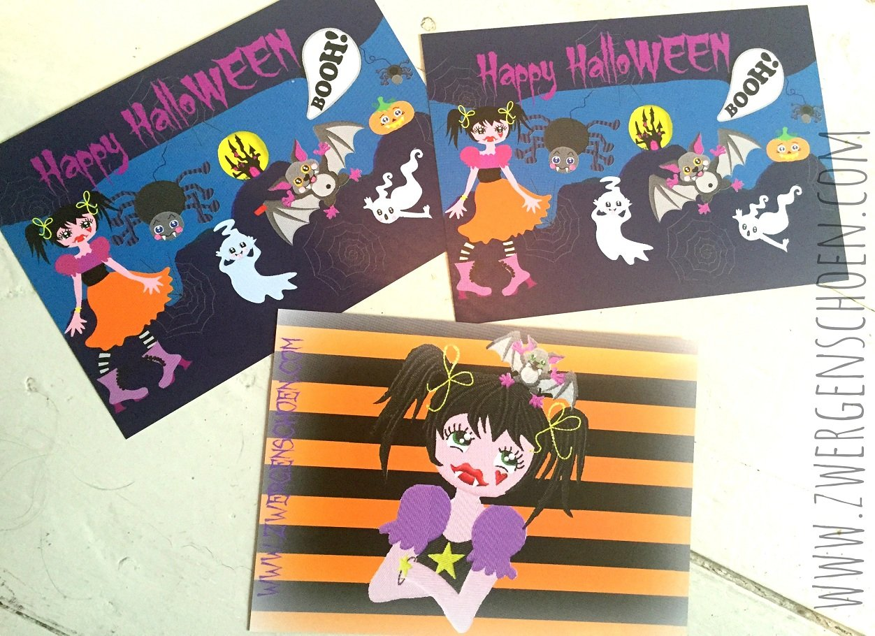 ♥HALLOWEEN♥ POSTCARD SET OF 3