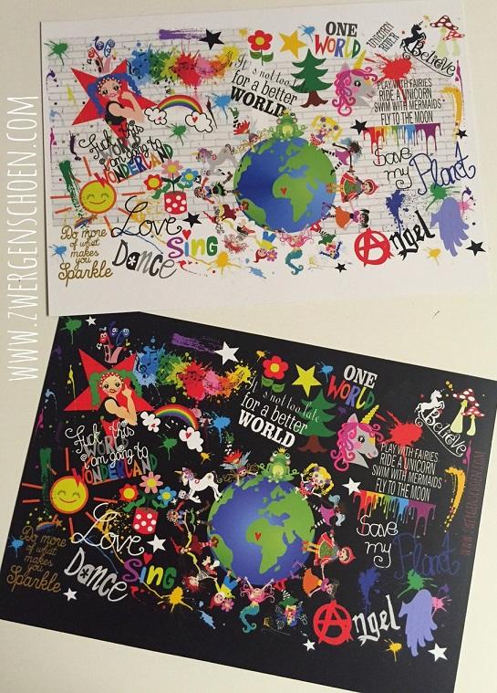 ♥GRAFFITTIschön♥ Postkarten-SET XL 3Stück