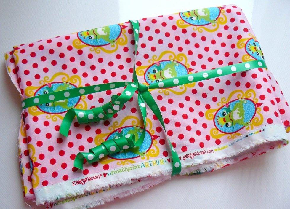 ♥FROGprince ARTHUR♥ Designer FABRIC cotton 70x100cm!!!