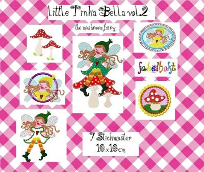 ♥little TINKA BELLA♥ Pilzfee vol.2 Stickmuster 10x10