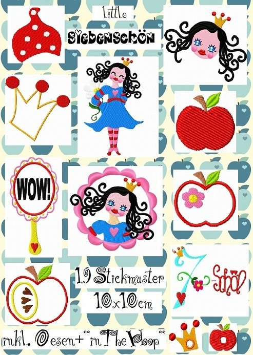 ♥little SIEBENSCHÖN♥ XXL Stickmuster-SET 10x10cm