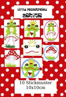 ♥littel FROGPRINCE♥ Arthur fairy-tale EMBROIDERY file