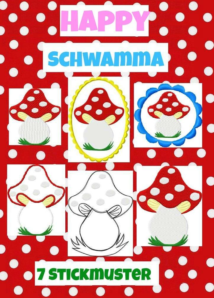 ♥Happy SCHWAMMA♥ Stickmustervorlage