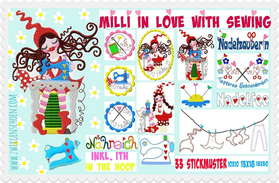 ♥MILLI in LOVE with SEWING♥ Stickmuster XL NADELSCHÖN