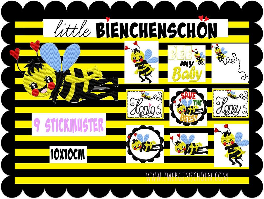 ♥little QUEEN OF BEES♥ BieNCHENSCHoeN Embroidery-FILE-Set 10x10cm