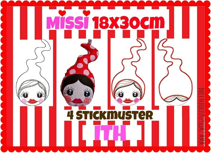 ♥MISSI♥ Stickmuster SPEZIAL 18x30cm & InTheHoop
