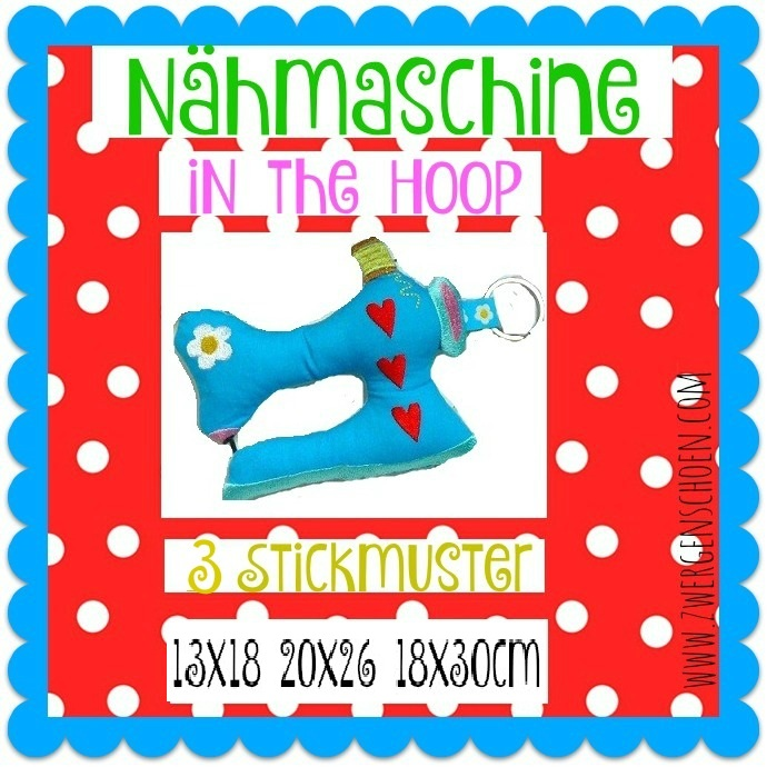 ♥NäHMASCHiNe♥ Stickmuster InTheHOOP 13x18cm 20x26cm 18x30cm