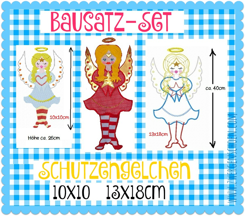 ♥BUILDING SET♥ Angel EMBROIDERY File 10x10 13x18cm