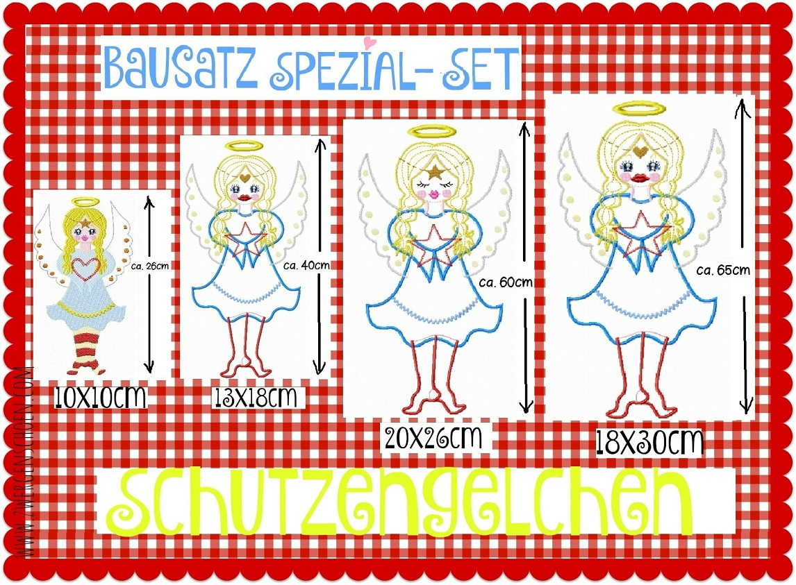 ♥BUILDING SET 4in1♥ ANGELS Embroidery FILE 10x10 13x18 18x30 20x26cm