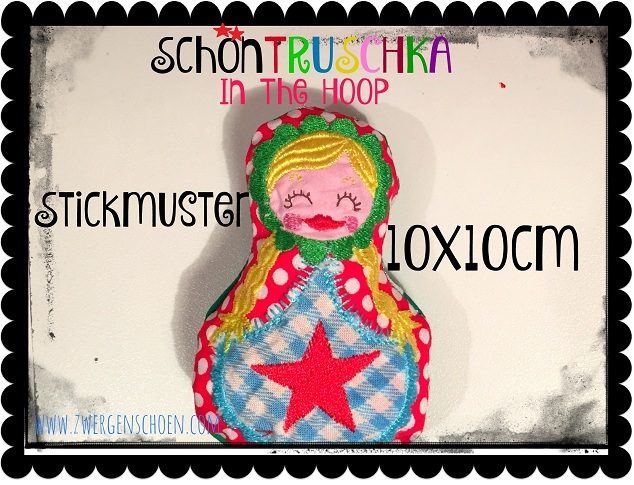 ♥SchoenTRUSCHKA solo♥ Embroidery ITH 10x10cm IN THE HOOP