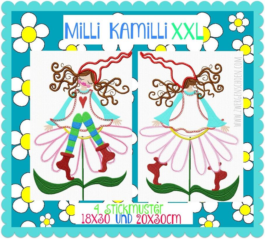 ♥MILLI KAMILLI XXL♥Embroidery FAIRY 18x30 20x30cm