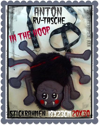 ♥ANTON♥ RV-Tasche ITH Spinne InTheHoop 18x23 20x26cm
