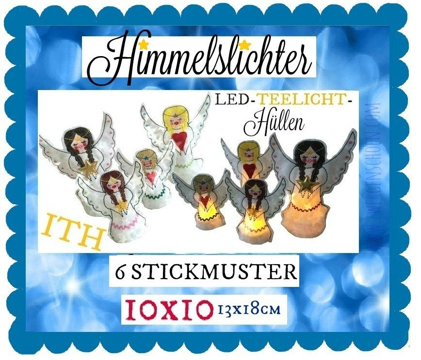 ♥LED-TEELICHT-HÜLLEN♥ Stickdatei HIMMELsLICHTER Cover ITH
