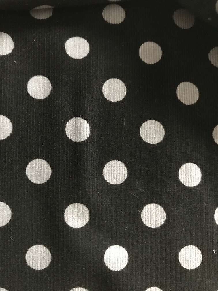 ♥POLKA DOTS♥ 0.5m FEINCORD schwarz grau