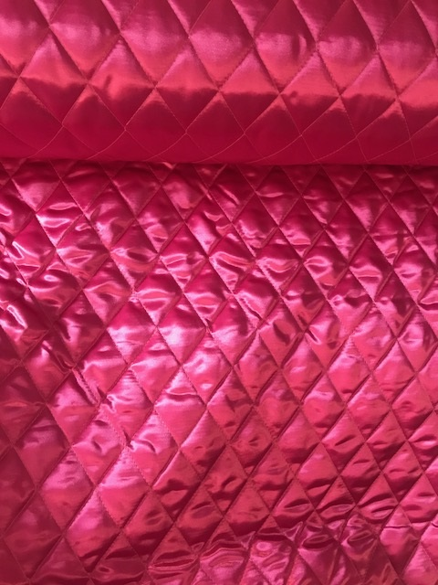 ♥RAUTEN-STEPPER♥ 0.5m PINK wattiert SATIN