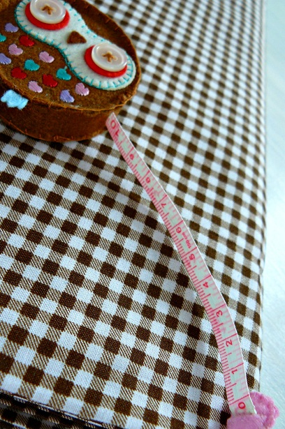 ♥VICHY♥ 0.5m BAUMWOLLE Kariert RILEY BLAKE braun