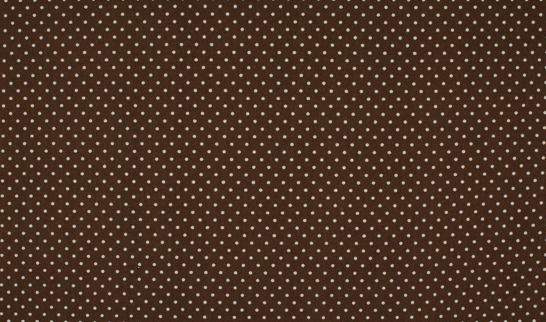 ♥PÜNKTCHEN♥ 0.5m BAUMWOLLE RehBRAUN braun DOTS Punkte