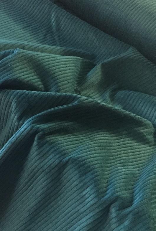 ♥BREITCORD♥ 0.5m PETROL blau BAUMWOLLE