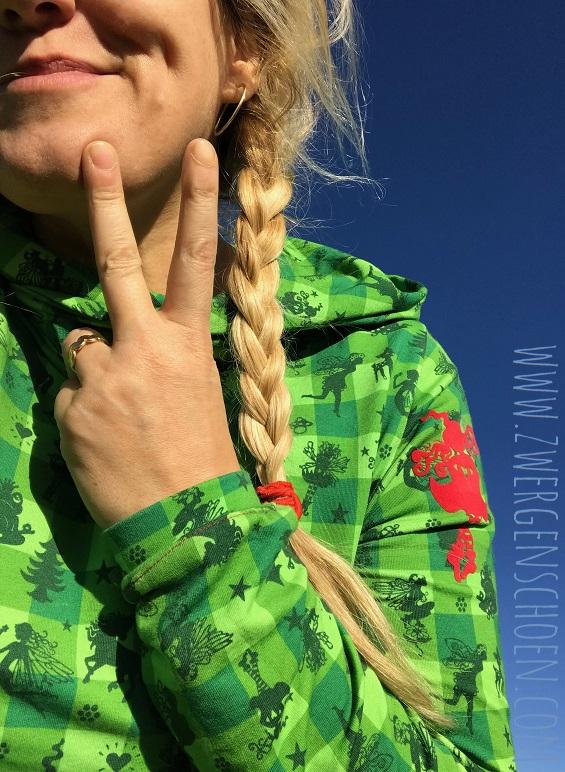 ♥FAIRYTAUSENDSCHÖN♥ on VICHY 0.5m SWEATSHIRT grün
