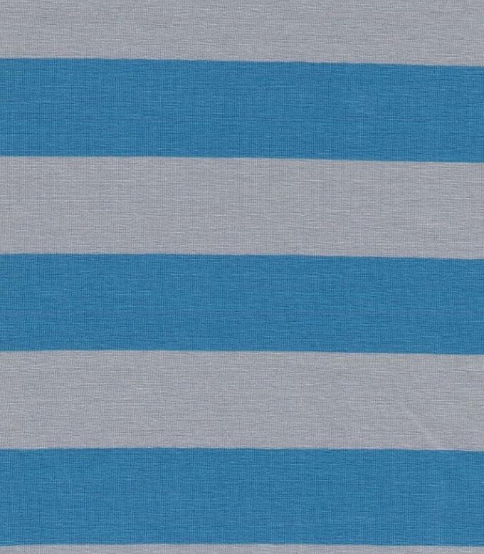 ♥BLOCKSTREIFEN♥ 0.5m JERSEY 3cm STREIFEN blau/grau