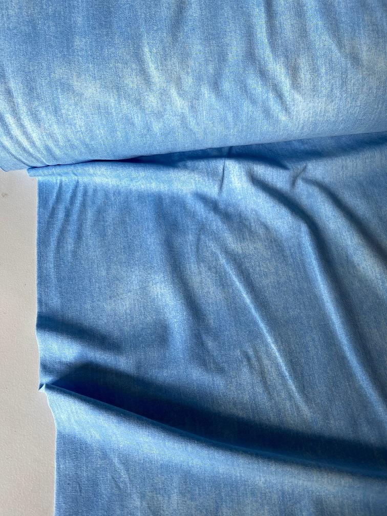 ♥JEANS-JERSEY♥ 0.5m DENIM Jersey LIGHT blue LICHTBLAU