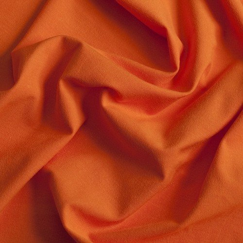 ♥VISKOSE-JERSEY♥ 0.5m mandarinen ORANGE