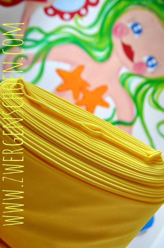 ♥SWIMwear♥ 0.5m Badeanzug Stoff Uni GELB