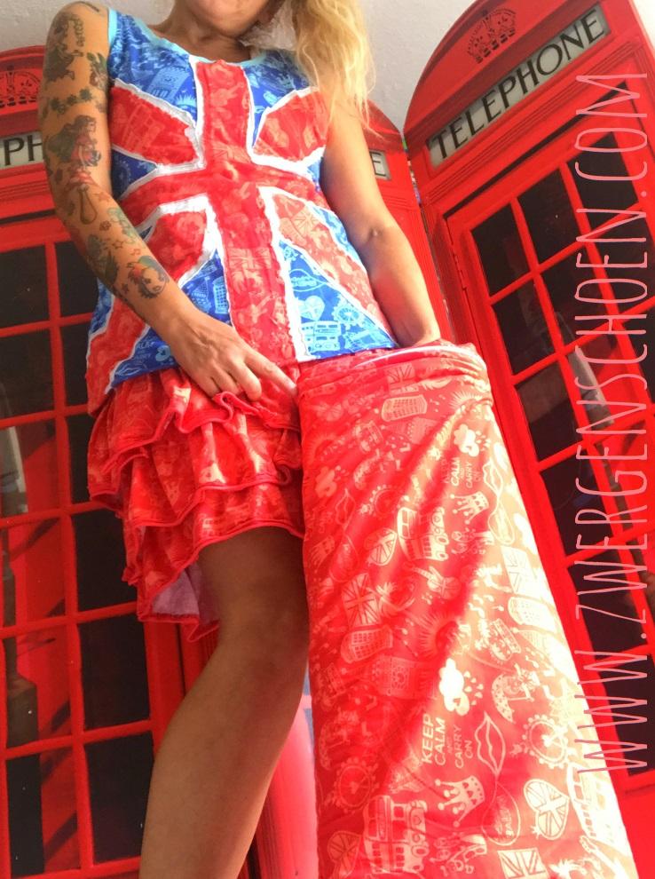 ♥SCHNITTCHEN of LONDON♥ 1 BALLEN 10m BIO Jersey ROT coral