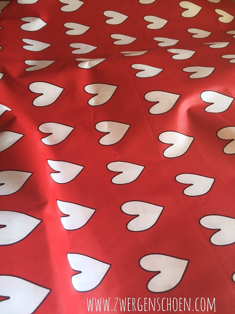 ♥HERZchenSCHÖN♥ 0.5m (!) beschichtete BAUMWOLLE rot
