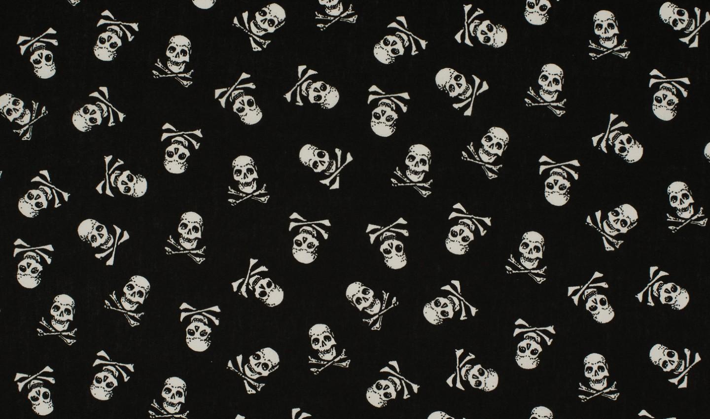 ♥PIRATEN♥ 0.5m TOTENKOPF Baumwolle SCULLS black